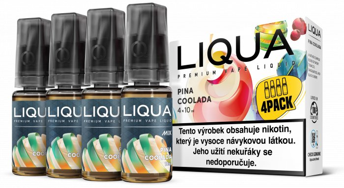 Liquid LIQUA CZ MIX 4Pack Pina Coolada 10ml-3mg