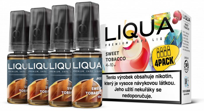 Liquid LIQUA CZ MIX 4Pack Sweet Tobacco 10ml-3mg
