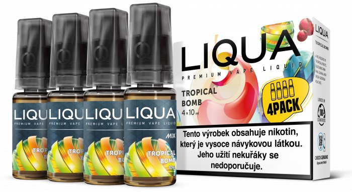 Liquid LIQUA CZ MIX 4Pack Tropical Bomb 10ml-3mg