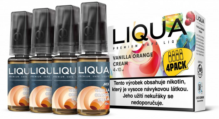 Liquid LIQUA CZ MIX 4Pack Vanilla Orange Cream 10ml-6mg