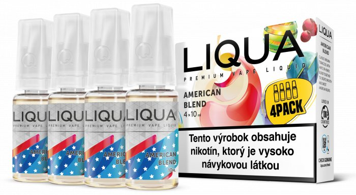 Liquid LIQUA SK Elements 4Pack American Blend 4x10ml-12mg (Americký míchaný tabák)