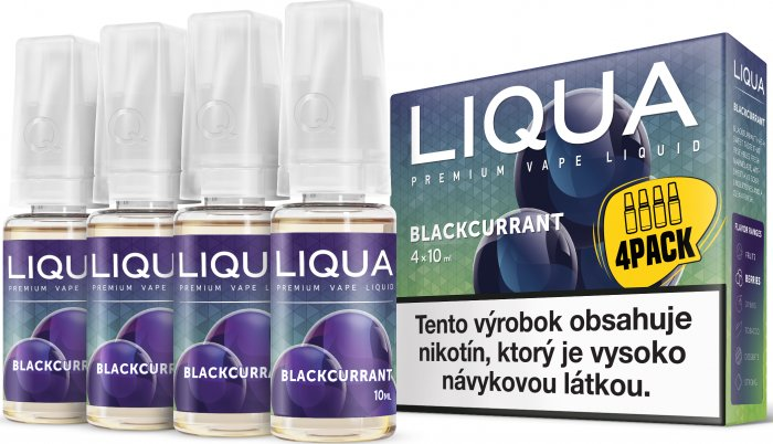 Liquid LIQUA SK Elements 4Pack Blackcurrant 4x10ml-6mg (černý rybíz)