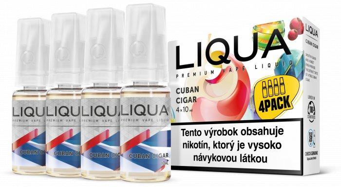 Liquid LIQUA SK Elements 4Pack Cuban Cigar tobacco 4x10ml-6mg (Kubánský doutník)