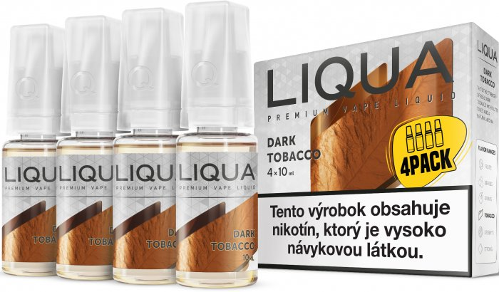 Liquid LIQUA SK Elements 4Pack Dark tobacco 4x10ml-6mg (Silný tabák)