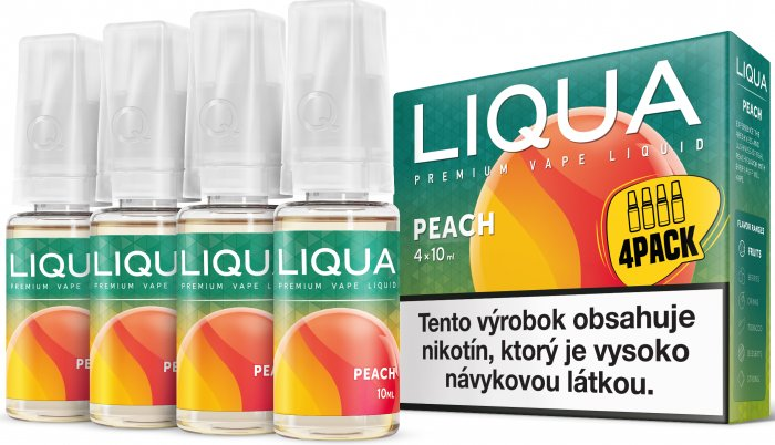 Liquid LIQUA SK Elements 4Pack Peach 4x10ml-6mg (Broskev)
