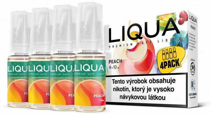 Liquid LIQUA SK Elements 4Pack Peach 4x10ml-6mg (Broskev)