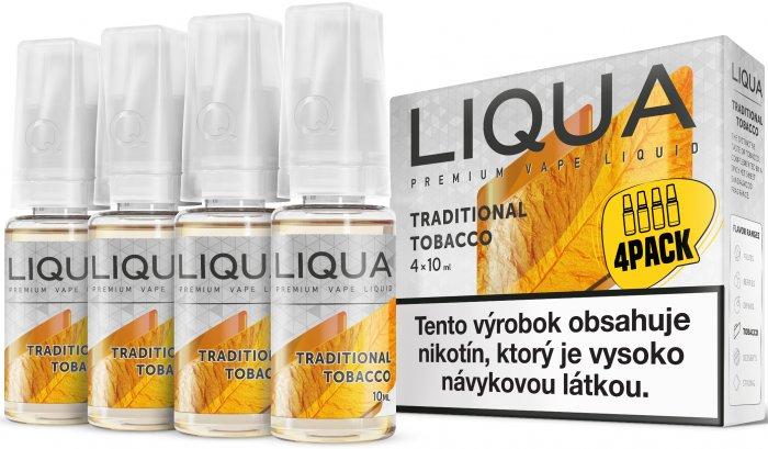 Liquid LIQUA SK Elements 4Pack Traditional tobacco 4x10ml-12mg (Tradiční tabák)