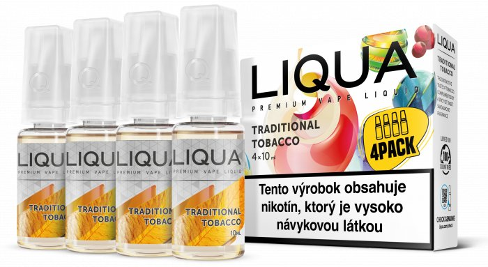 Liquid LIQUA SK Elements 4Pack Traditional tobacco 4x10ml-12mg (Tradiční tabák)