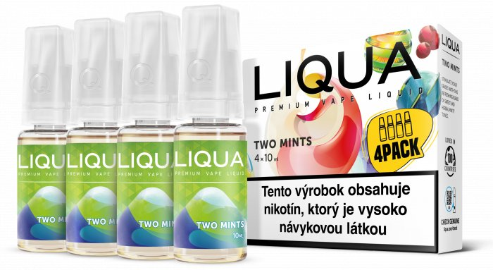 Liquid LIQUA SK Elements 4Pack Two mints 4x10ml-6mg (Chuť máty a mentolu)
