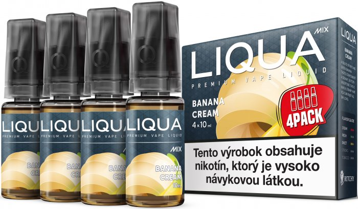 Liquid LIQUA SK MIX 4Pack Banana Cream 10ml-3mg