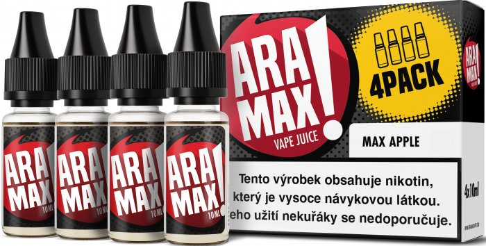 Liquid ARAMAX 4Pack Max Apple 4x10ml-12mg