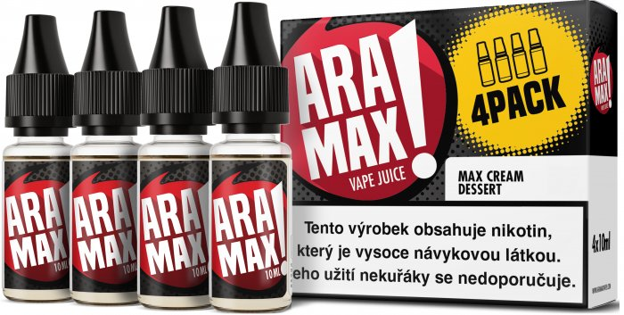 Liquid ARAMAX 4Pack Max Cream Dessert 4x10ml-12mg