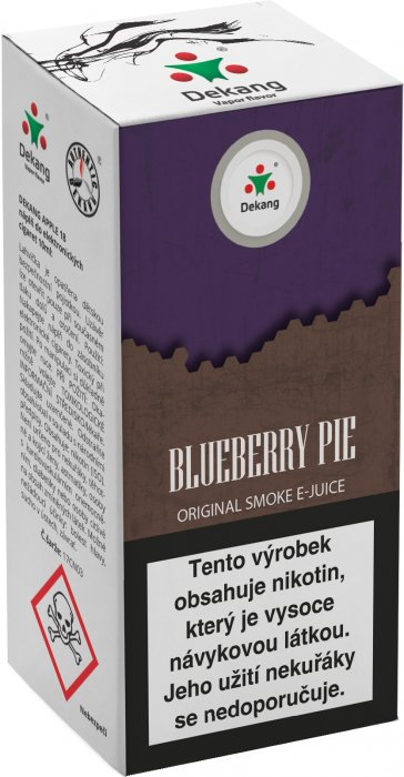Liquid Dekang Blueberry Pie 10ml - 11mg (Borůvkový koláč)