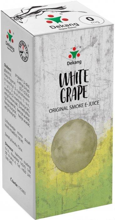 Liquid Dekang White Grape 10ml - 0mg (Hroznové bílé víno)