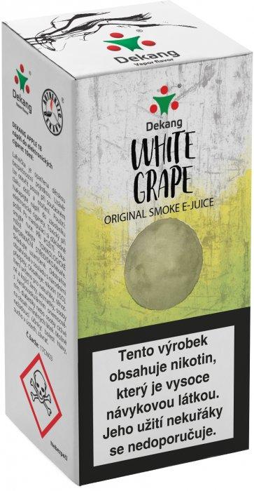 Liquid Dekang White Grape 10ml - 3mg (Hroznové bílé víno)