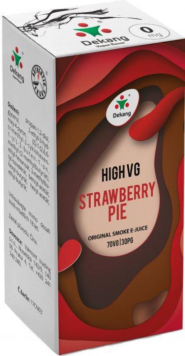 Liquid Dekang High VG Strawberry Pie 10ml - 0mg (Jahodový koláč)