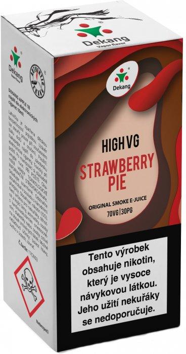 Liquid Dekang High VG Strawberry Pie 10ml - 3mg (Jahodový koláč)