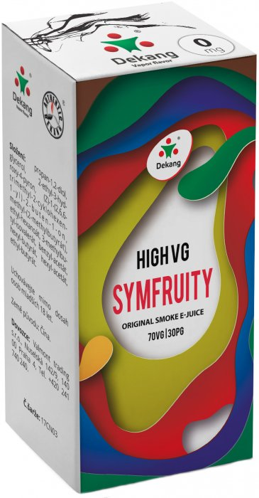 Liquid Dekang High VG Symfruity 10ml - 0mg (Ovocný mix)
