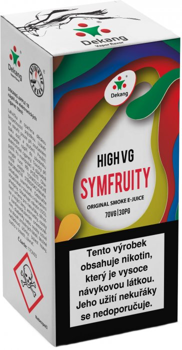 Liquid Dekang High VG Symfruity 10ml - 3mg (Ovocný mix)