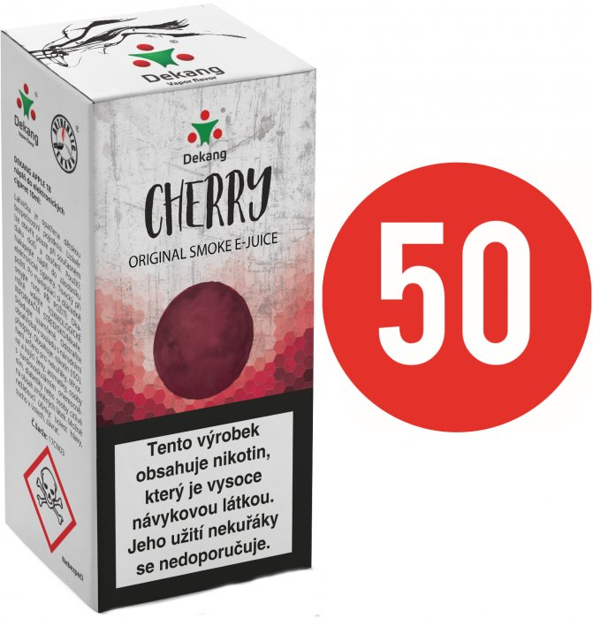 Liquid Dekang Fifty Cherry 10ml - 16mg (Třešeň)