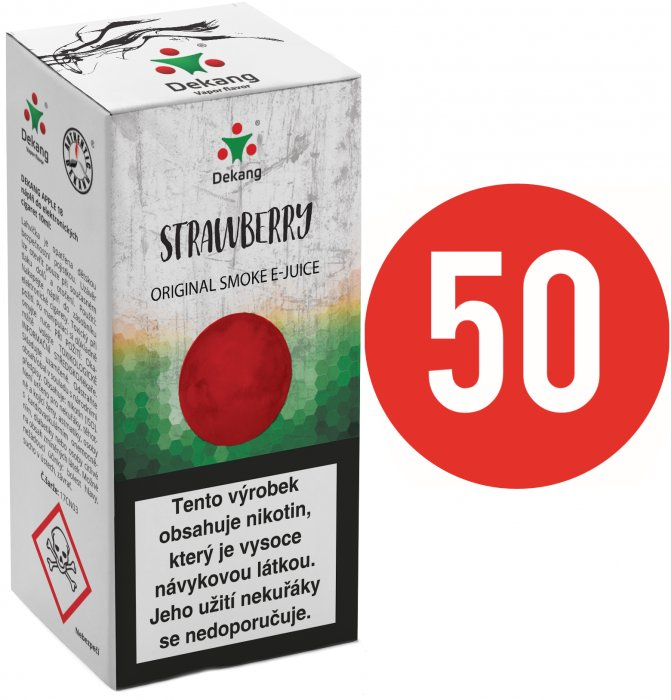 Liquid Dekang Fifty Strawberry 10ml - 6mg (Jahoda)
