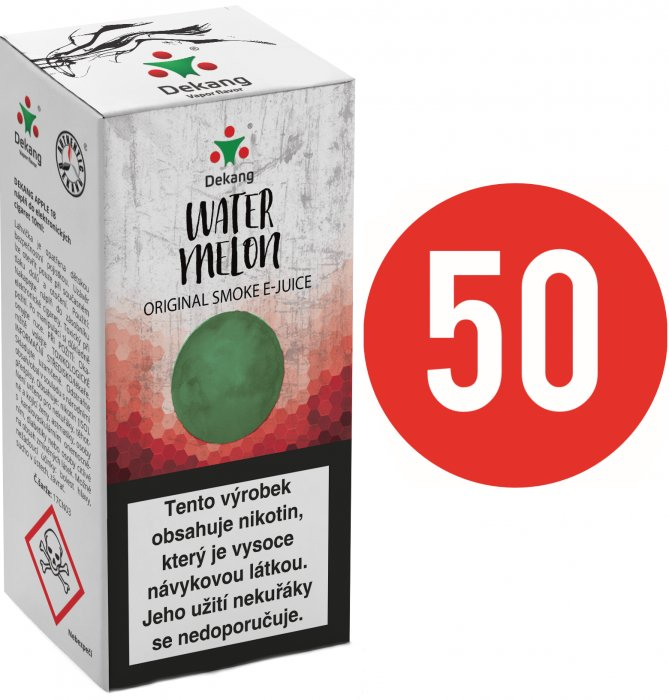 Liquid Dekang Fifty Watermelon 10ml - 6mg (Vodní meloun)