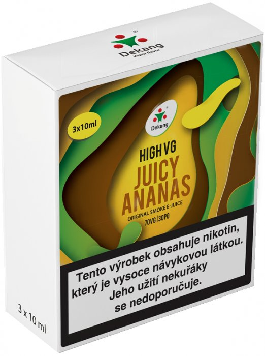 Liquid Dekang High VG 3Pack Juicy Ananas 3x10ml - 1,5mg