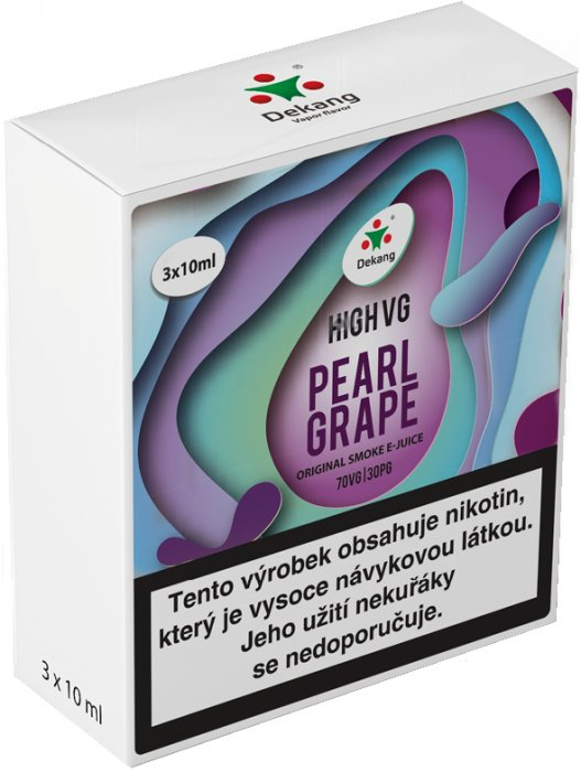 Liquid Dekang High VG 3Pack Pearl Grape 3x10ml - 6mg