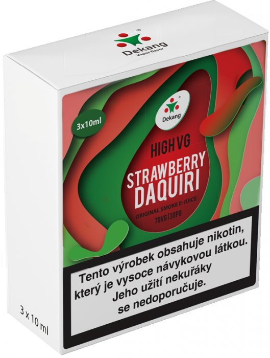 Liquid Dekang High VG 3Pack Strawberry Daquiri 3x10ml - 1,5mg