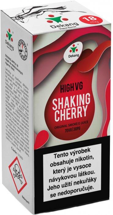 Liquid Dekang High VG Shaking Cherry 10ml - 6mg (Koktejlová třešeň)