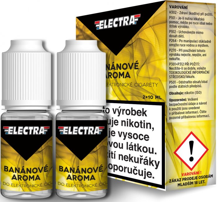 Liquid ELECTRA 2Pack Banana 2x10ml - 18mg (Banán)