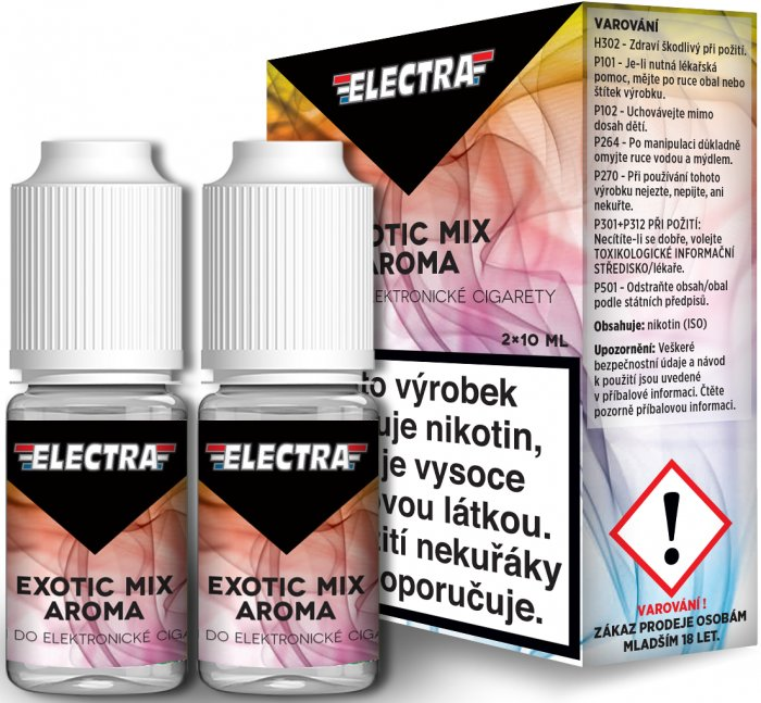 Liquid ELECTRA 2Pack Exotic Mix 2x10ml - 3mg (Mix exotického ovoce)