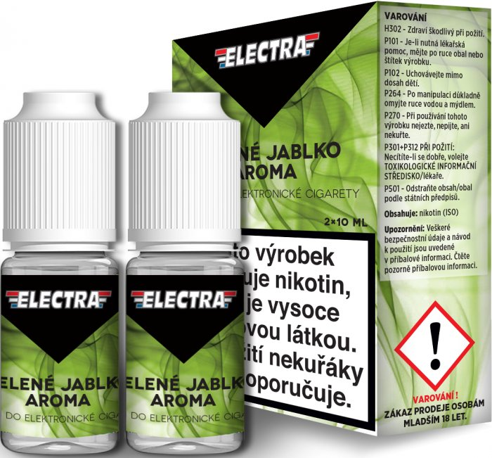 Liquid ELECTRA 2Pack Green apple 2x10ml - 0mg (Zelené jablko)