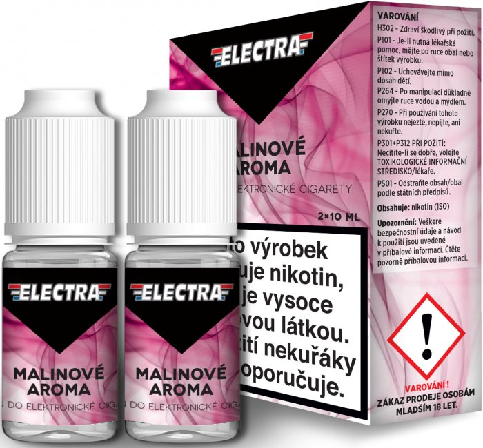 Liquid ELECTRA 2Pack Raspberry 2x10ml - 0mg (Malina)
