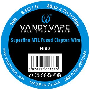 Vandy Vape Superfine MTL Fused Clapton odporový drát Ni80 3m
