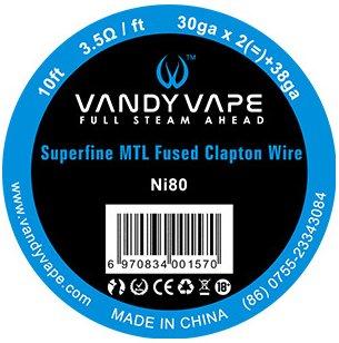 Vandy Vape Superfine MTL odporový drát Ni80 3m