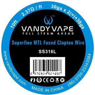 Vandy Vape Superfine MTL odporový drát SS316 3m