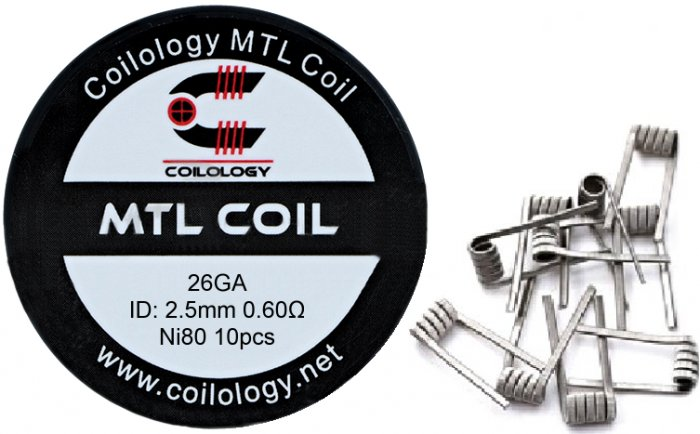 Coilology MTL Round  předmotané spirálky Ni80 0,6ohm 10ks
