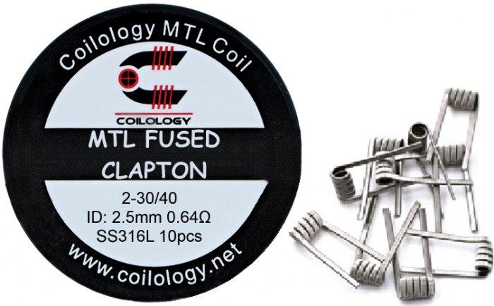 Coilology MTL Fused Clapton předmotané spirálky SS316 0,64ohm 10ks