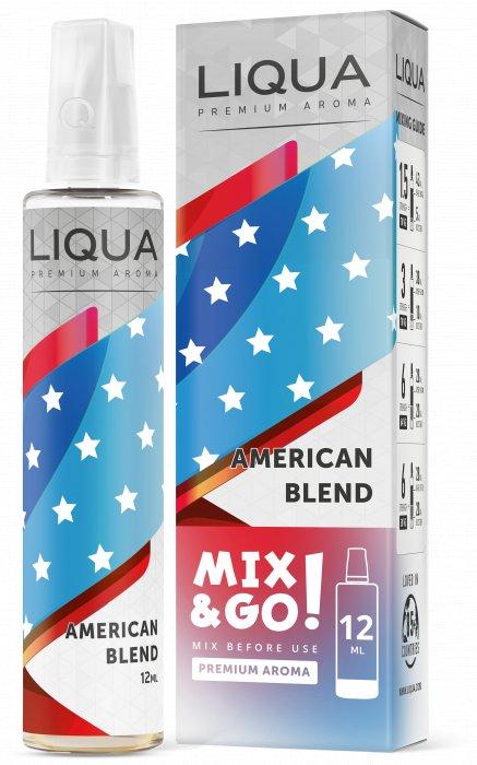 Příchuť Liqua Mix&Go 12ml American Blend