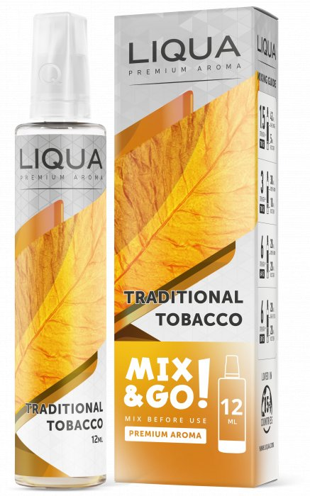 Příchuť Liqua Mix&Go 12ml Traditional Tobacco
