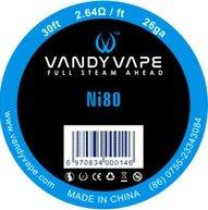 Vandy Vape Ni80 odporový drát 26GA 10m