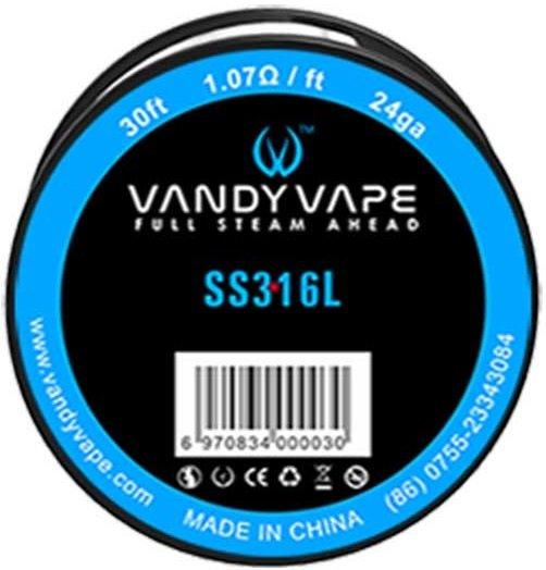 Vandy Vape SS316 odporový drát 24GA 10m