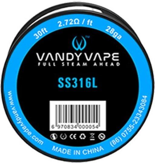 Vandy Vape SS316 odporový drát 28GA 10m