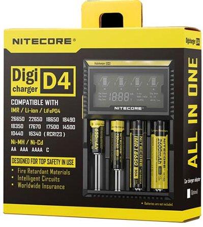Nitecore D4 nabíječka pro monočlánky