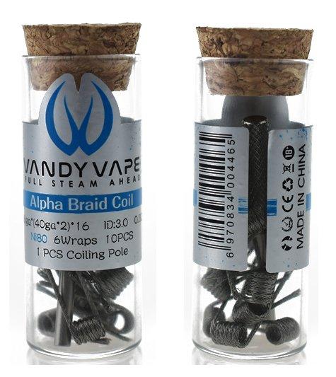 Vandy Vape předmotané spirálky Alpha Braid Ni80