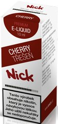 Liquid Nick Cherry Zero 10ml-0mg (Třešeň)