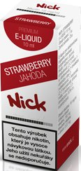 Liquid Nick Strawberry Low 10ml-6mg (Jahoda)