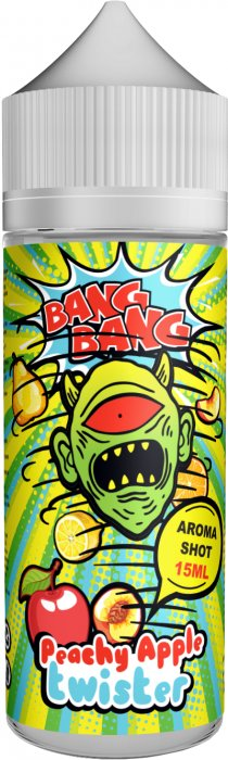 Příchuť BANG BANG Shake and Vape 15ml Peachy Apple Twister