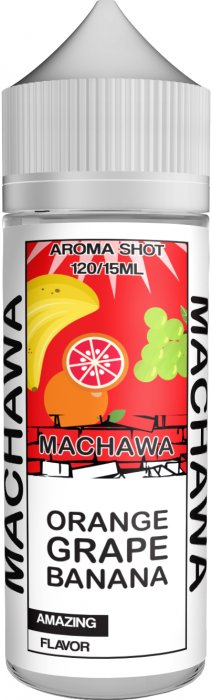 Příchuť MACHAWA Shake and Vape 15ml Orange, Grape and Banana